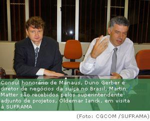 Suíços conhecem modelo Zona Franca de Manaus